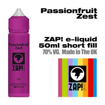 Passionfruit Zest by Zap! e-liquid – 70% VG – 50ml