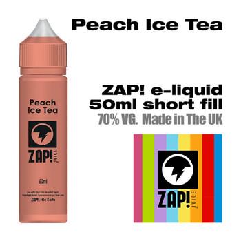 Peach Iced Tea by Zap! e-liquid – 70% VG – 50ml