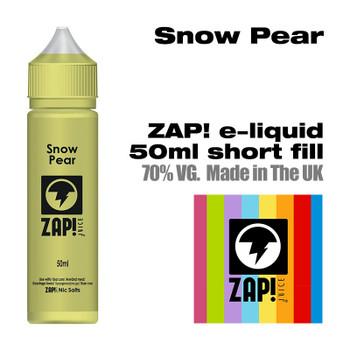 Snow Pear by Zap! e-liquid – 70% VG – 50ml