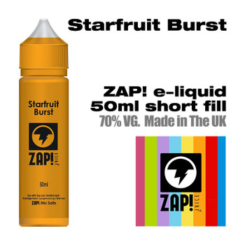 Starfruit Burst by Zap! e-liquid – 70% VG – 50ml