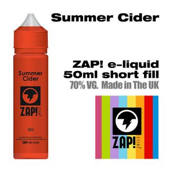 Summer Cider by Zap! e-liquid – 70% VG – 50ml