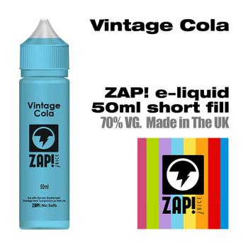 Vintage Cola by Zap! e-liquid – 70% VG – 50ml