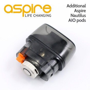 Additional / replacement Aspire Nautilus AIO refillable pods for the Nautilus AIO vape device