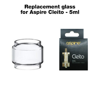 Replacement glass for Aspire Cleito – 5ml