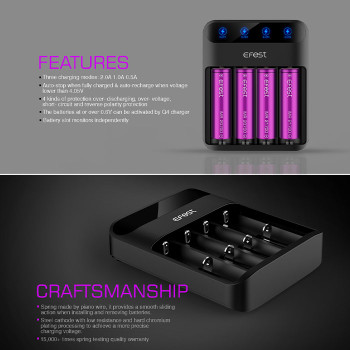 Efest LUSH Q4 4 slot battery cell charger