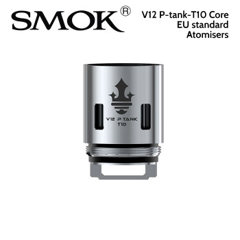 3 pack - SMOK V12 P-tank T10 0.12ohm decuple core atomisers