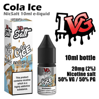 Cola Ice – I VG Salt Nic e-liquids – 50% VG – 10ml - 20mg nicotine