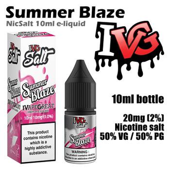 Summer Blaze – I VG Salt Nic e-liquids – 50% VG – 10ml - 20mg nicotine