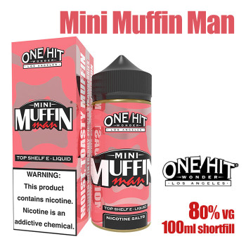 Mini Muffin Man - One Hit Wonder e-liquid - 80% VG - 100ml