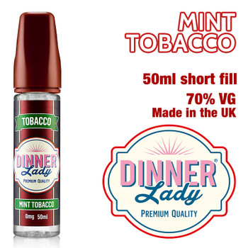 Mint Tobacco e-liquid by Dinner Lady – 70% VG – 50ml