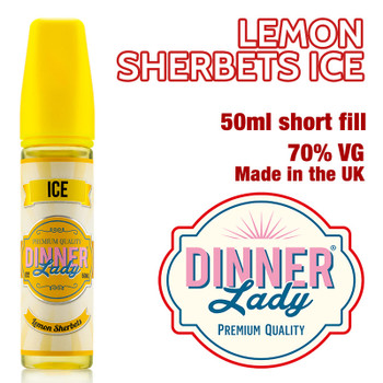 Lemon Sherbets Ice e-liquid by Dinner Lady – 70% VG – 50ml