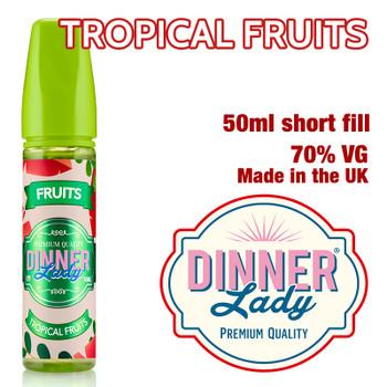 Tropical Fruits e-liquid by Dinner Lady – 70% VG – 50ml