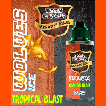 Wolves Tropical Blast Ice – Team Vapour e-liquid – 70% VG – 100ml