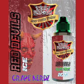 Red Devils Grape Nerdz Ice – Team Vapour e-liquid – 70% VG – 100ml