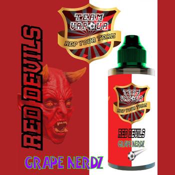 Red Devils Grape Nerdz – Team Vapour e-liquid – 70% VG – 100ml