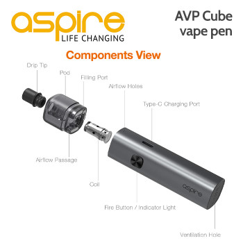 Aspire AVP Cube vape pen
