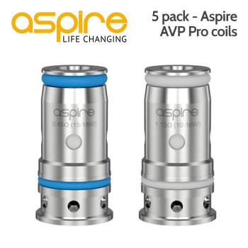 5 pack - Aspire AVP Pro coils