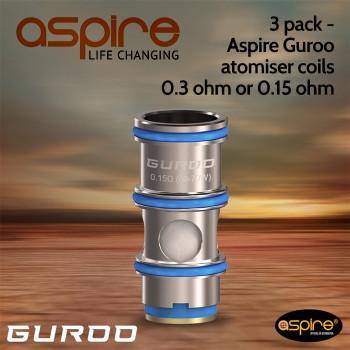 3 pack - Aspire Guroo atomiser coils