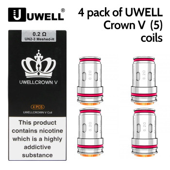 4 pack of UWELL Crown V (Crown 5) coils