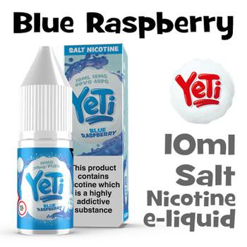 Blue Raspberry - Yeti Salt Nicotine eliquid - 10ml