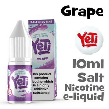 Grape - Yeti Salt Nicotine eliquid - 10ml