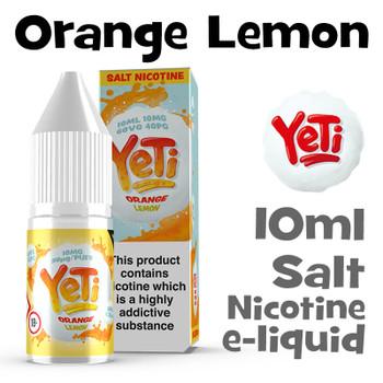 Orange Lemon - Yeti Salt Nicotine eliquid - 10ml