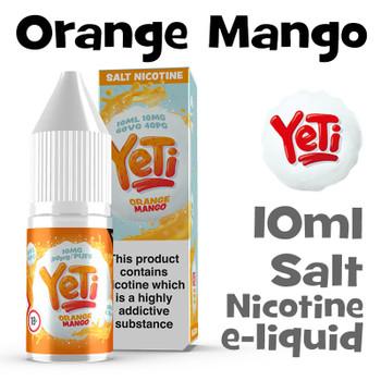 Orange Mango - Yeti Salt Nicotine eliquid - 10ml