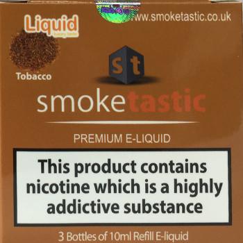 Tobacco - 30ml - Smoketastic eLiquid