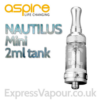 Aspire Nautilus MINI 2ml Clearomiser Tank (BVC)