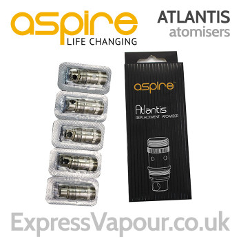 5 pack - Aspire ATLANTIS Sub-Ohm Coils