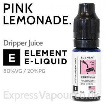 Pink Lemonade - ELEMENT 80% VG Dripper e-Liquid - 10ml