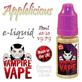 Applelicious - Vampire Vape 40% VG e-Liquid - 10ml