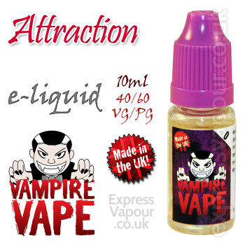 Attraction - Vampire Vape 40% VG e-Liquid - 10ml