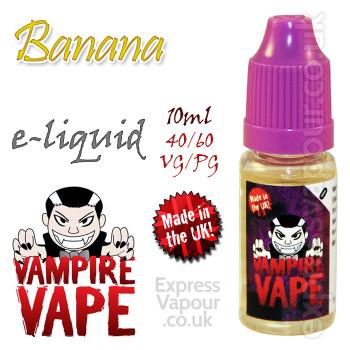 Banana - Vampire Vape 40% VG e-Liquid - 10ml