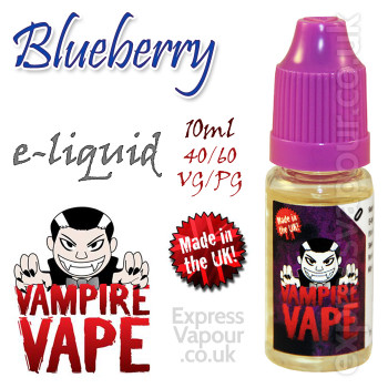 Blueberry - Vampire Vape 40% VG e-Liquid - 10ml