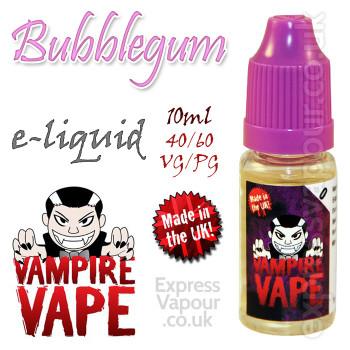 Bubblegum - Vampire Vape 40% VG e-Liquid - 10ml