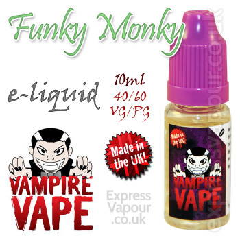 Funky Monkey - Vampire Vape 40% VG e-Liquid - 10ml