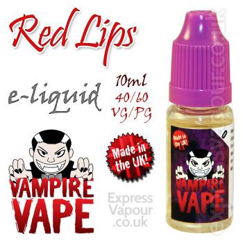 Red Lips - Vampire Vape 40% VG e-Liquid - 10ml
