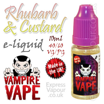 Rhubarb and Custard - Vampire Vape 40% VG e-Liquid - 10ml