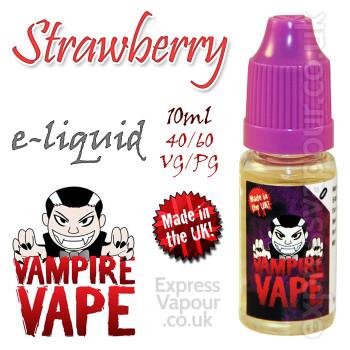 Strawberry - Vampire Vape 40% VG e-Liquid - 10ml