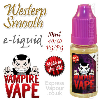 Western Smooth V2 - Vampire Vape 40% VG e-Liquid - 10ml