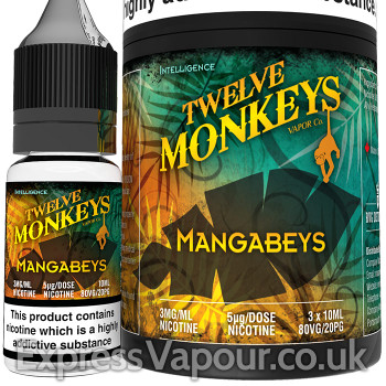 MANGABEYS - Twelve Monkeys e-liquid - 80% VG - 30ml