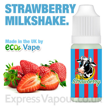 Strawberry Milkshake - by ECO VAPE e-liquid - 70% VG - 30ml