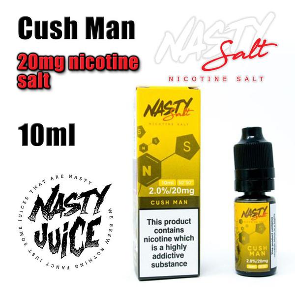 Cush Man – Nasty Salt e-liquid – 10ml - 20mg nicotine salt