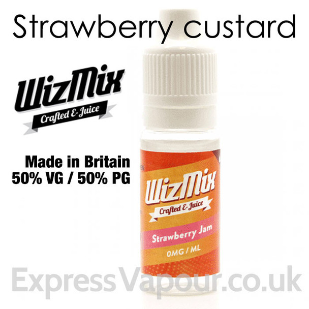 Strawberry Jam - by WizMix e-liquid - 50% VG - 10ml