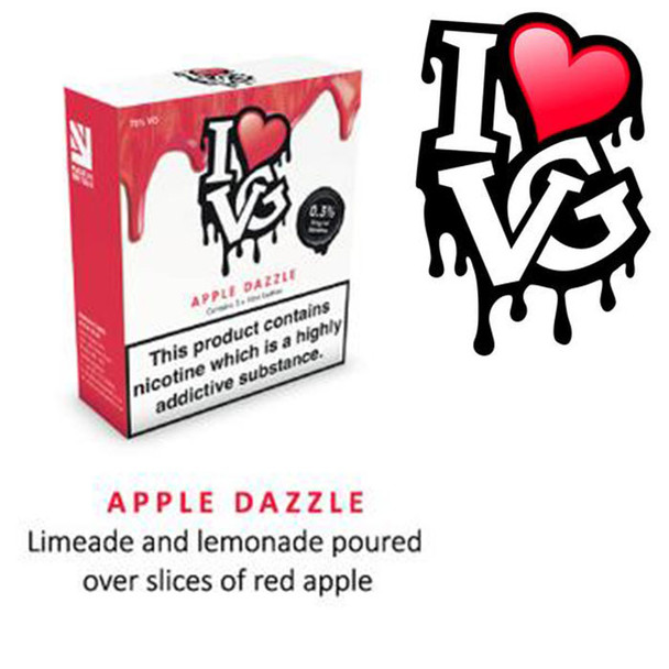Apple Dazzle by I LOVE VG e-liquid - 70% VG - 30ml