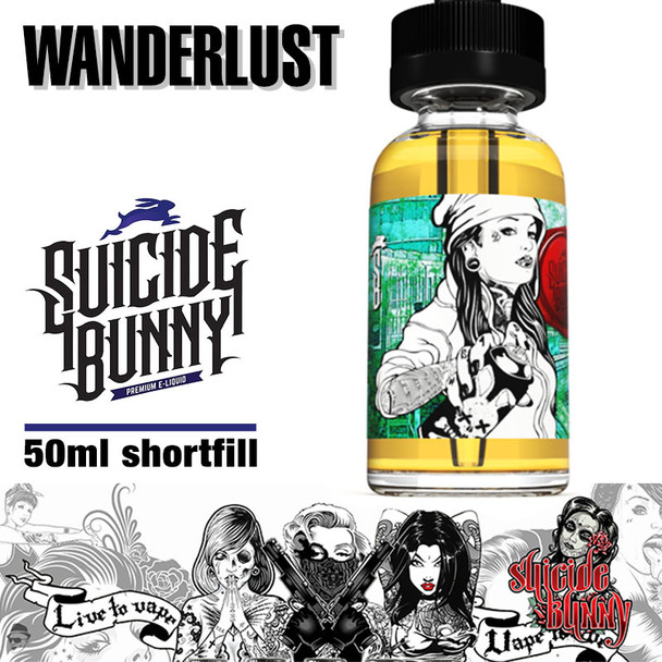 Wanderlust by Suicide Bunny e-liquids - 70% VG - 50ml