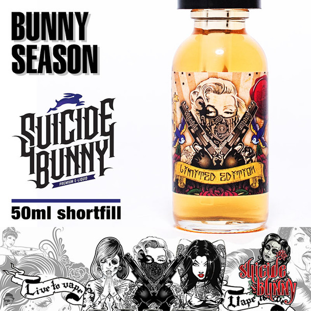 Bunny Season by Suicide Bunny e-liquids - 70% VG - 50ml