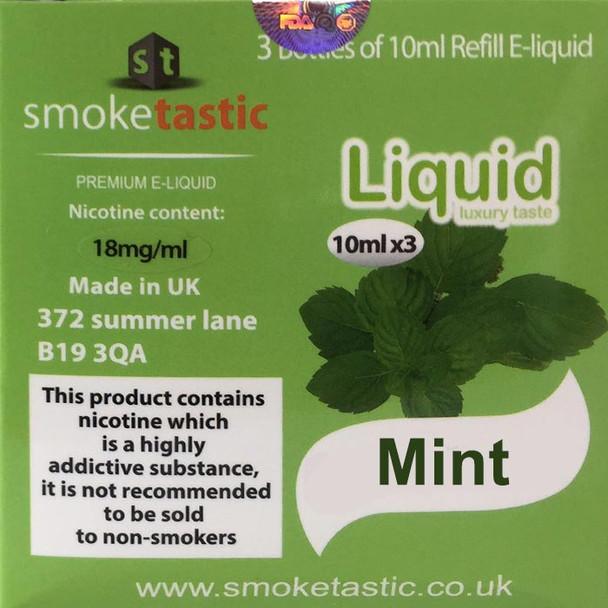 Mint - 30ml - Smoketastic eLiquid
