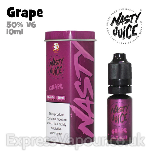 Grape - Nasty Juice e-liquid - 50% VG - 10ml